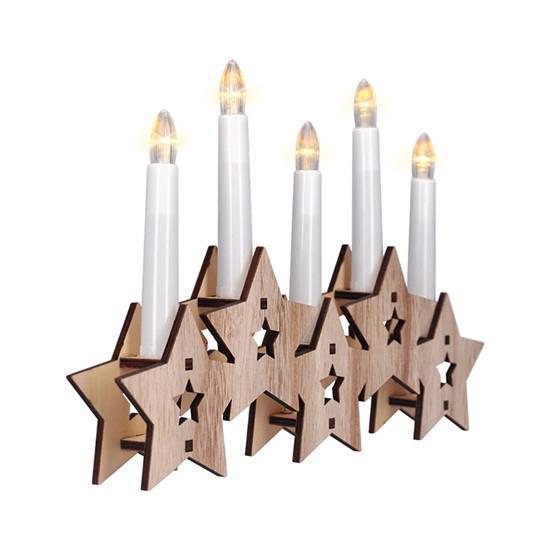 Svícen vánoční SOLIGHT 1V222 hvězdy