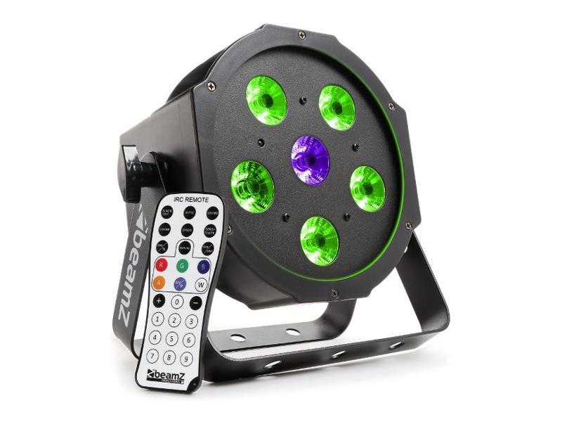 Efekt reflektor BEAMZ FLATPAR 5x 6W + 6W UV LED, RGB, DMX