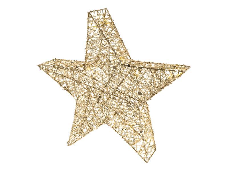 Dekorace vánoční RETLUX RXL 327 třpytivá hvězda