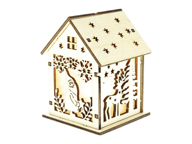 Dekorace vánoční RETLUX RXL 333 WW domeček se skřítkem