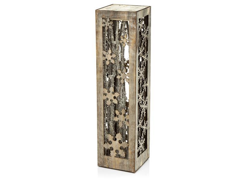 Dekorace vánoční RETLUX RXL 350 CW kvádr s vločkami 40,5cm