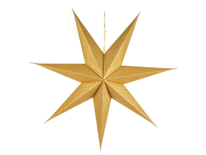 Dekorace vánoční RETLUX RXL 339 WW hvězda zlatá