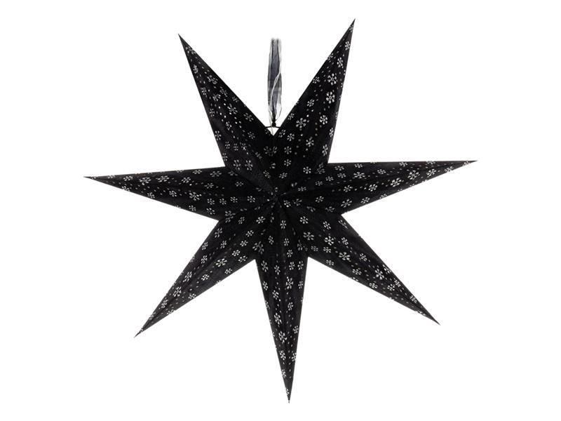 Dekorace vánoční RETLUX RXL 342 WW hvězda černá