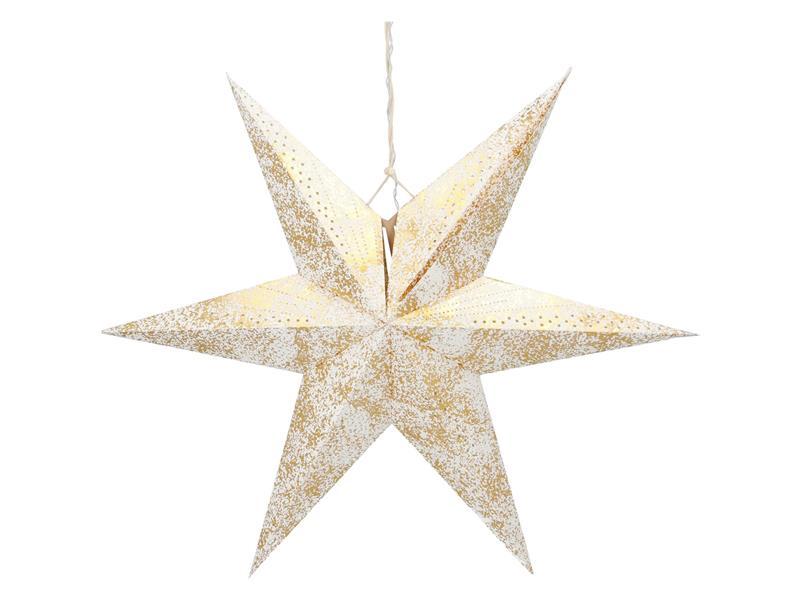 Dekorace vánoční RETLUX RXL 363 WW hvězda zlatá