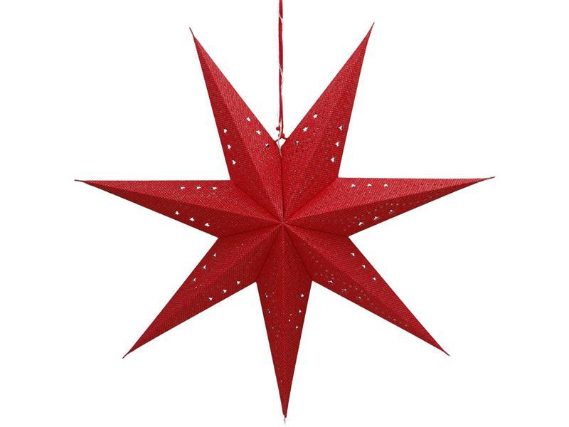 Dekorace vánoční RETLUX RXL 362 WW hvězda červená