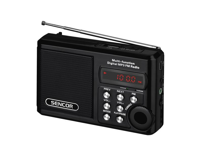 Radiopřijímač SENCOR SRD 215B USB/MP3