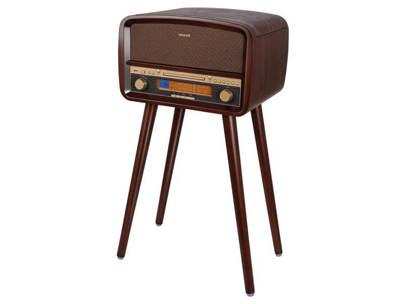 Gramofon SENCOR FM/CD/USB retro STT 019U