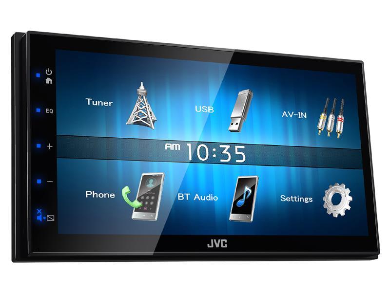 """Autorádio JVC 2DIN KW-M24BT USB/AUX,Bluetooth s 6,8"""" displej"""
