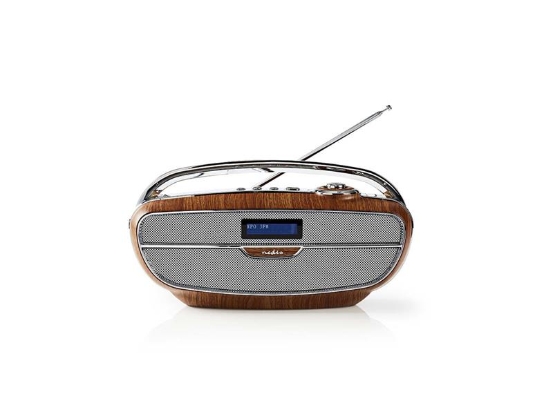 Rádio FM / DAB+ / BLUETOOTH NEDIS RDDB5300BN BROWN / SILVER