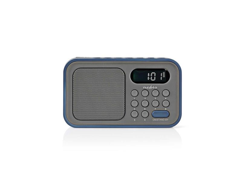 Rádio NEDIS RDFM2200BU GREY/BLUE