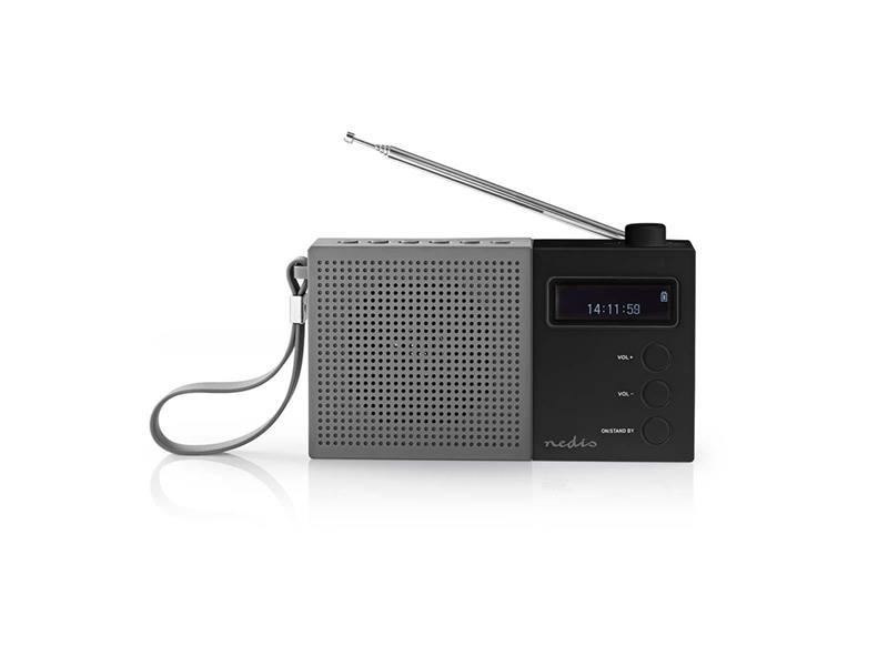 Rádio FM / DAB+ NEDIS RDDB2210BK GREY / BLACK