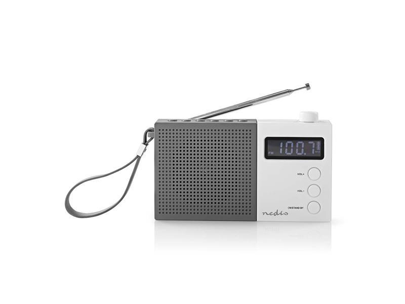 Rádio FM NEDIS RDFM2210WT GREY / WHITE