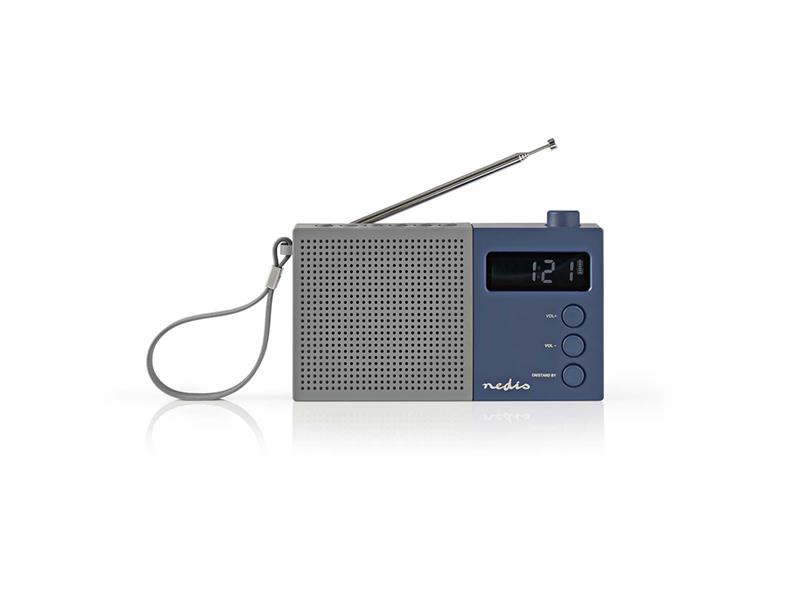 Rádio FM NEDIS RDFM2210BU GREY / BLUE