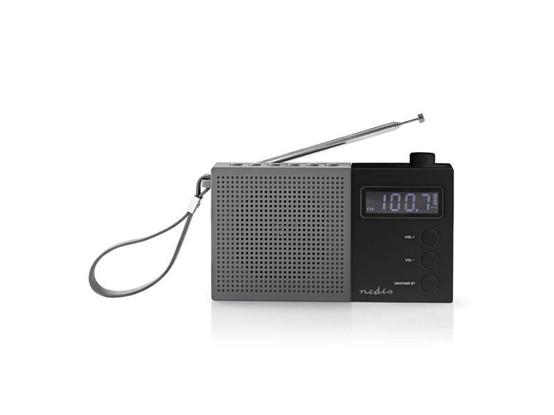 Rádio NEDIS RDFM2210BK GREY/BLACK