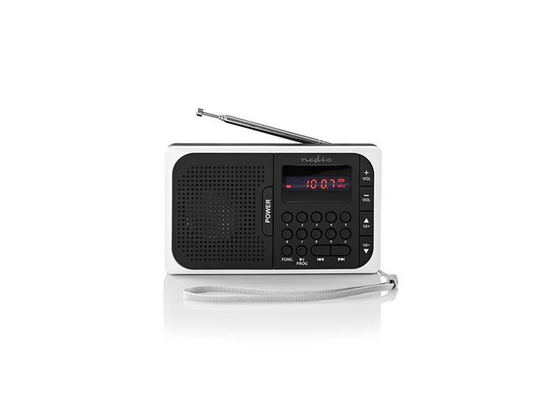Rádio NEDIS RDFM2100WT BLACK/WHITE