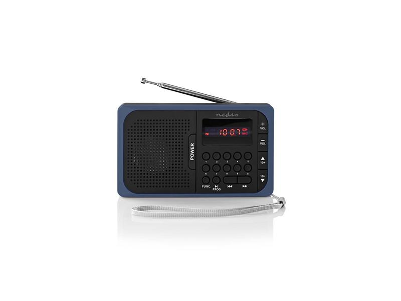 Rádio NEDIS RDFM2100BU BLACK/BLUE