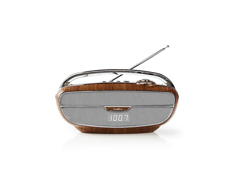Rádio NEDIS RDFM5310BN BROWN/SILVER