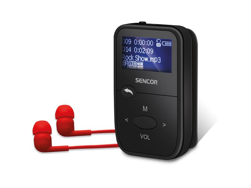 Přehrávač MP3 SENCOR SFP 4408 BK 8GB