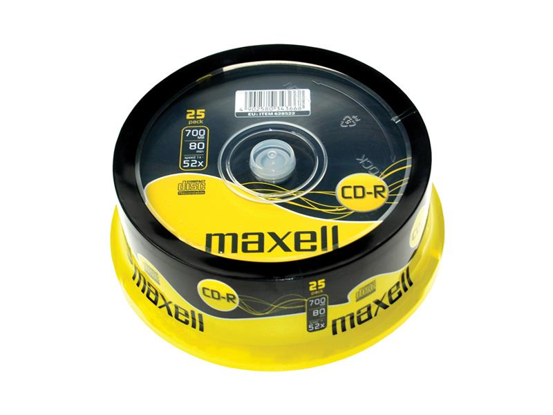 CD-R 700MB MAXELL 52x 25ks