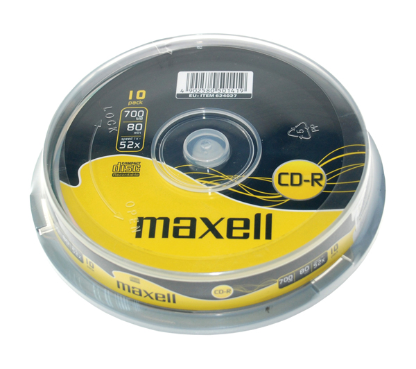 CD-R 700MB MAXELL 52x 10ks