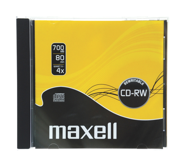 CD-RW 700MB MAXELL 4x 1PK JC Přepisovatelný