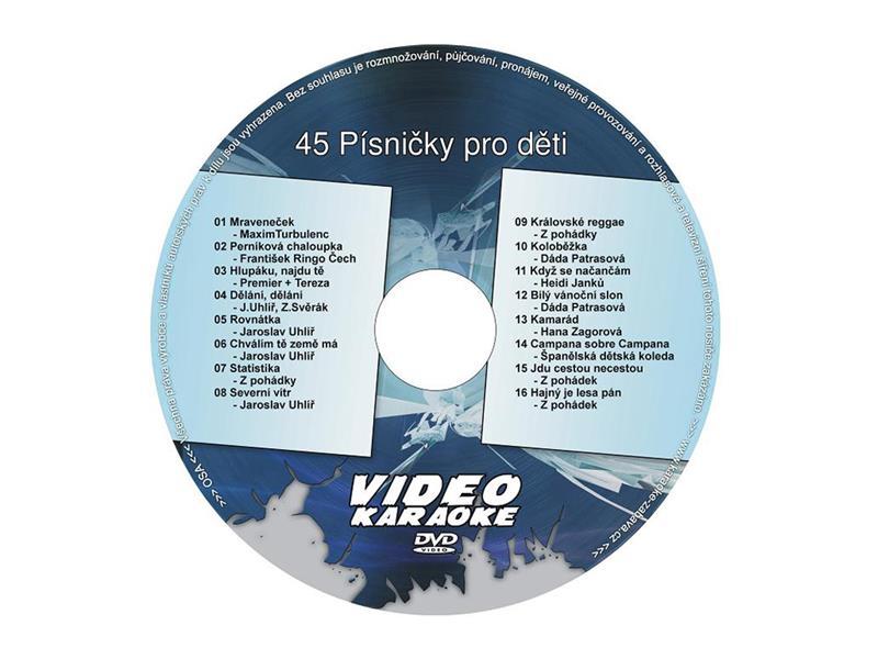 Karaoke DVD PÍSNIČKY PRO DĚTI