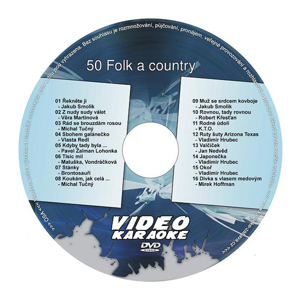 Karaoke DVD FOLK A COUNTRY