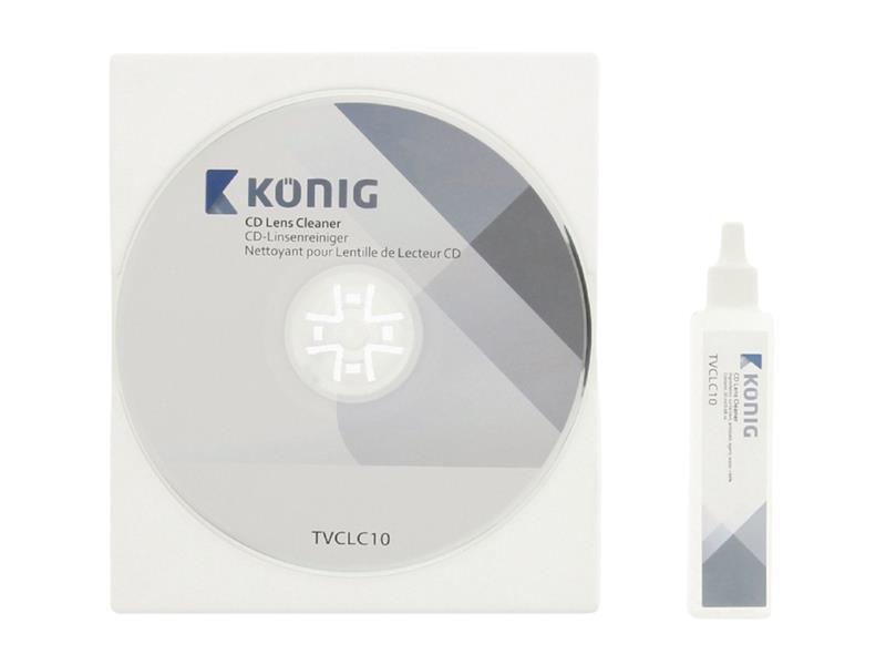 KÖNIG TVCLC10 CD disk čisticí s kapalinou