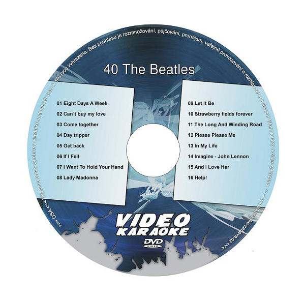 Karaoke DVD THE BEATLES 40