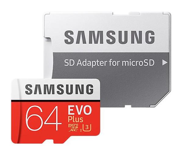 Karta paměťová SAMSUNG Micro SDHC 64GB Class 10 + adaptér MB-MC64GA/EU