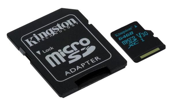 Karta paměťová KINGSTON MICRO SDHC 64GB CLASS 10 + adaptér SDCG/64GB