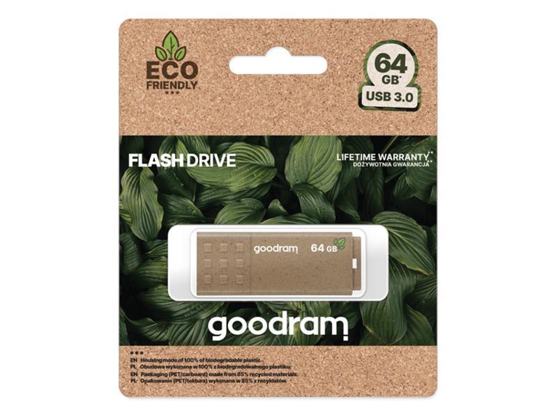 Flash disk GOODRAM USB 3.0 64GB ECO FRIENDLY