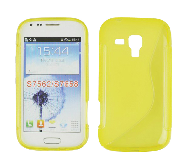 ForCell Zadní Kryt Lux S Yellow pro Samsung S7560/S7562 Trend