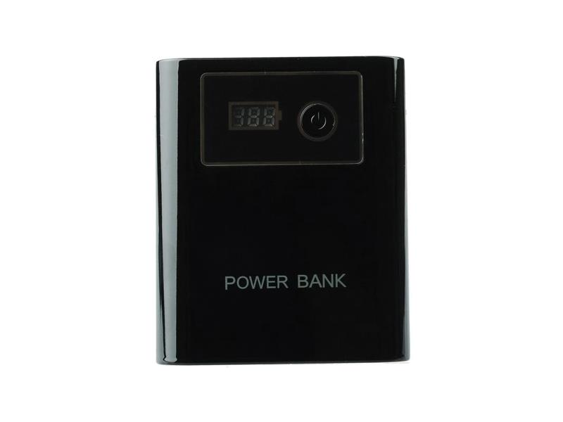 TIPA Externí baterie (Power bank) - 12 000 mAh, se světlem, LCD displejem, černá