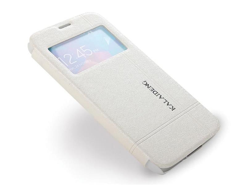 Pouzdro Kalaideng Easy View na Samsung Galaxy S5, bílé
