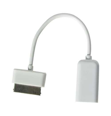 Adaptér Samsung USB OTG - 30pin bílý