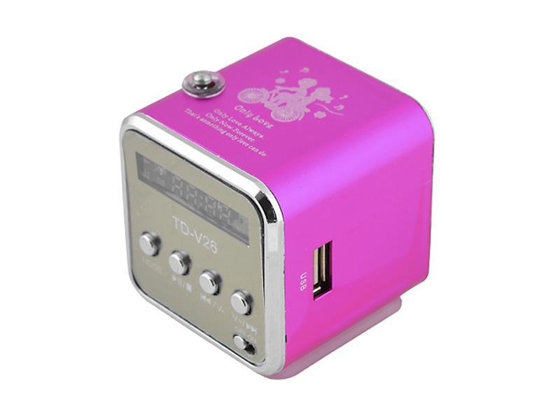 Rádio přenosné TD-V26 růžová