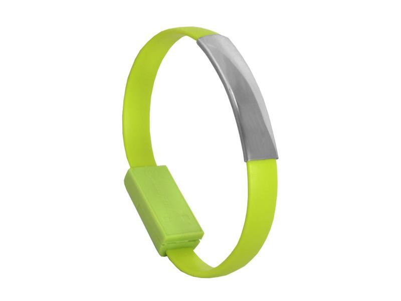 Náramek USB - Micro USB univerzální zelený