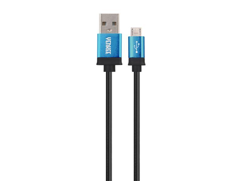 Kabel USB - Micro USB, modrý 1m YENKEE YCU 201 BBE