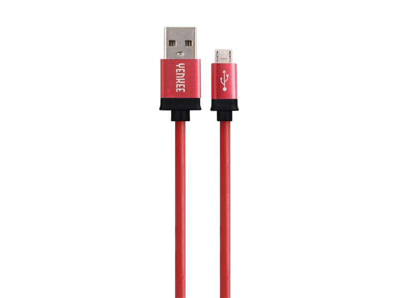 Kabel USB - Micro USB, červený 1m YENKEE YCU 201 BRD