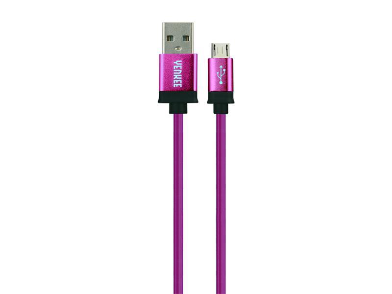 Kabel USB - Micro USB, fialový 2m YENKEE YCU 202 BPE
