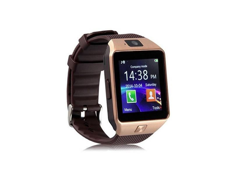 Erenbach Smartwatch DZ09 zlatá MENU kompletně v češtině