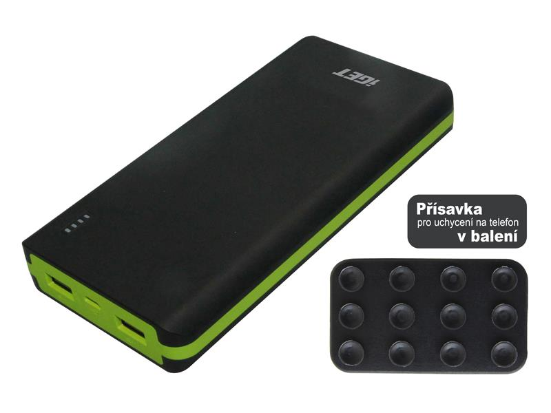 PowerBank 20000 mAh iGET POWER B-20000P BLACK