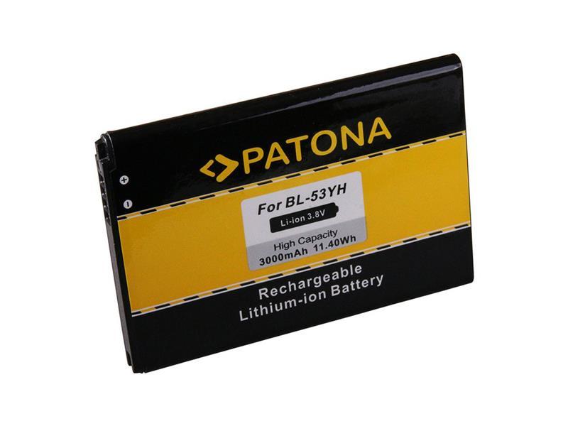 Baterie gsm LG BL-53YH D855 3000mAh PATONA PT3149 neoriginální