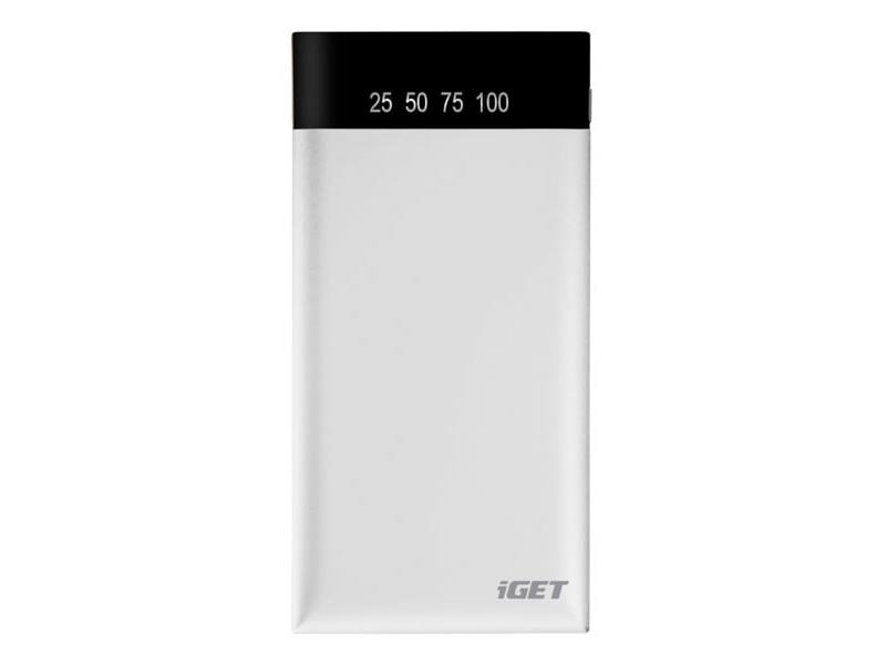 PowerBank 10000 mAh iGET POWER B-10000W bílá