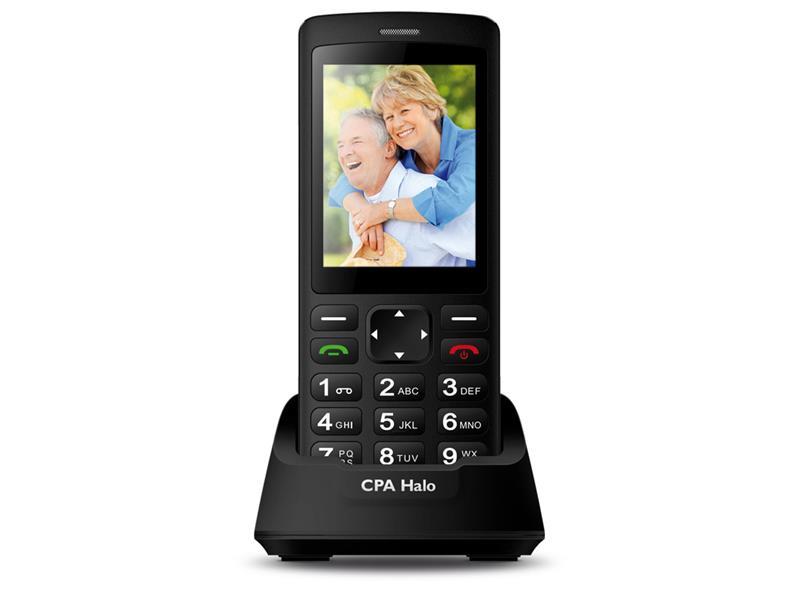 Telefon CPA HALO PLUS černý