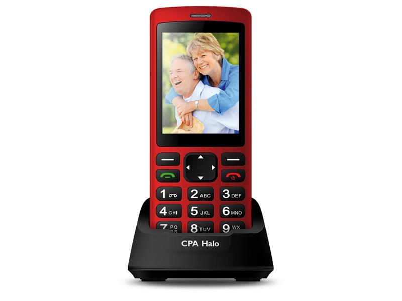 Telefon CPA HALO PLUS červený