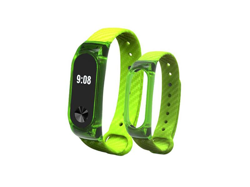 Řemínek XIAOMI MI BAND 2 CARBON GREEN