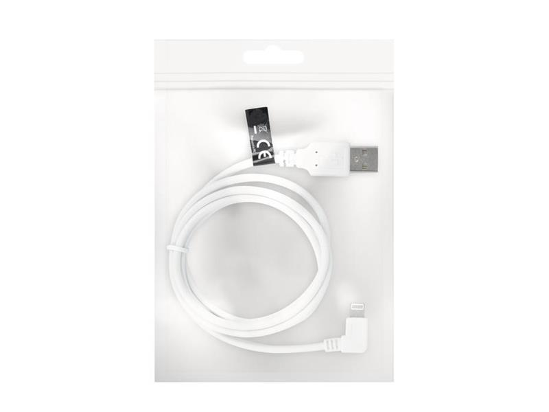 Kabel FOREVER USB/Lightning 1m bílý úhlový konektor