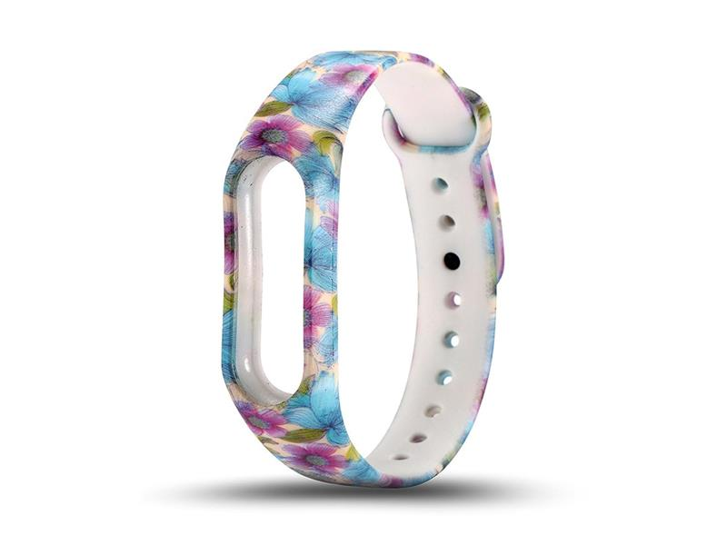 Řemínek XIAOMI MI BAND 2 BLUE FLOWERS